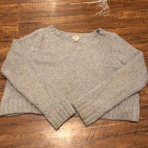 Mossimo plus size cropped grey fuzzy sweater